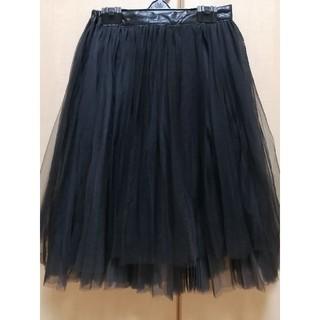 ティティベイト(titivate)のチュールスカート ブラック(ひざ丈スカート)