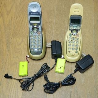 パイオニア(Pioneer)のパイオニア コードレス電話 子機 TF-TK102-W 113-H VT-13(その他)
