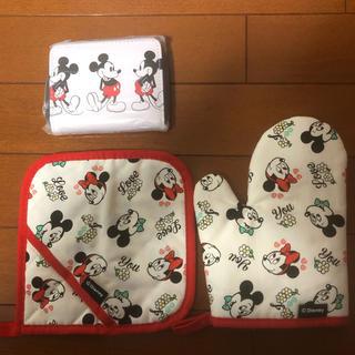 SHIPS - <新品> ミッキーマウス ナベ敷、ナベつかみ、財布3点セット