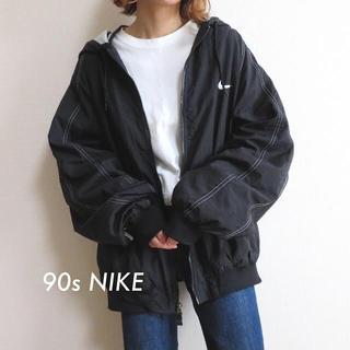 NIKE - 90s NIKE ナイキ 刺繍 ライン ナイロンジャケット 古着 vintage
