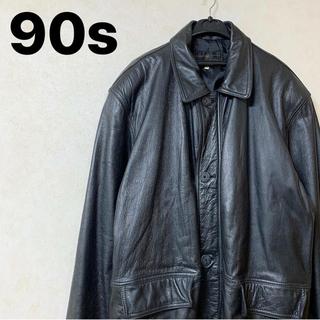 レザージャケット 90s ヴィンテージ 韓国製 オーバーサイズ