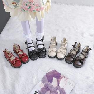 全四色 新作 可愛 森ガール系  リボン   ロリータ    靴