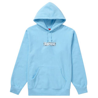 Supreme - Supreme Box logo light blue Lサイズ