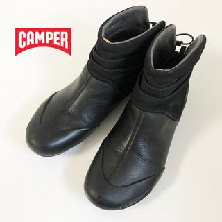 カンペール(CAMPER)のCAMPER カンペール ショートブーツ24.0㎝ EU38 ブラック(ブーツ)