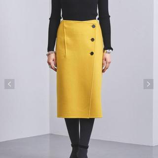 ユナイテッドアローズ(UNITED ARROWS)のユナイテッドアローズ バイカラー ラップ スカート(ひざ丈スカート)