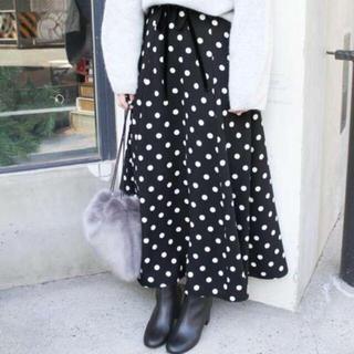 IENA SLOBE - 美品  ドットフレアミディスカート