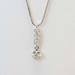 TASAKI - TASAKI ダイヤ ネックレス ペンダント K18WG 0.10ct 美品