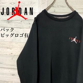 NIKE - 【レア】エアジョーダン☆超ビッグロゴ ブラック スウェット トレーナー