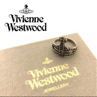 ヴィヴィアンウエストウッド(Vivienne Westwood)のヴィヴィアンウエストウッド オーブ ブラックストーン リング 指輪 11号(リング(指輪))