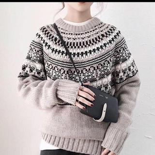 GU - GU☆ローゲージノルディックセーター☆新品☆プチプラのあやさん着用