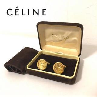celine - CELINE セリーヌ カフスボタン スーツ シャツ 馬車 ロゴ ゴールド