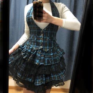 アルゴンキン(ALGONQUINS)のアルゴンキンベスト付きスカート(ミニスカート)