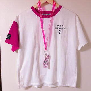 PINK-latte - PINK-latte/NiCORON(ニコロン)Tシャツ