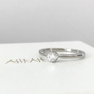 AHKAH - 【定価16万5千円】新品同様 AHKAH ミュゲ リング 大粒ダイヤ プラチナ