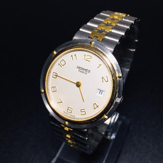 Hermes - 【可動 正規品】エルメス 腕時計 クリッパー  メンズ ユニセックス 良品