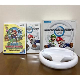Wii - Wii スーパーペーパーマリオ・マリオカート・ハンドル