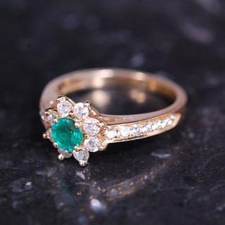 ティファニー(Tiffany & Co.)のTIFFANY&Co. ティファニー フローラ エメラルド ダイヤ リング (リング(指輪))