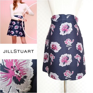 JILLSTUART - 美品◆JILLSTUART*ジルスチュアート◆ジャガードフラワースカート