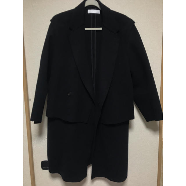 LAD MUSICIAN(ラッドミュージシャン)のエトセンス レイヤードコート メンズのジャケット/アウター(チェスターコート)の商品写真
