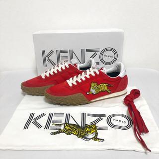 ケンゾー(KENZO)の【廃盤】新品未使用 KENZO 刺繍 タイガー スニーカー レディース 36 赤(スニーカー)