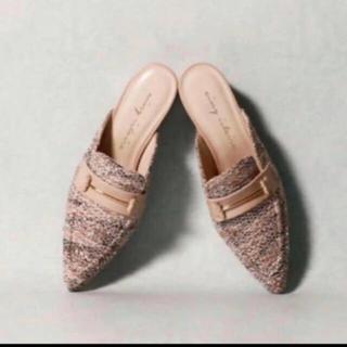 エイミーイストワール(eimy istoire)のeimy istoire ツイードローファーミュール(ローファー/革靴)