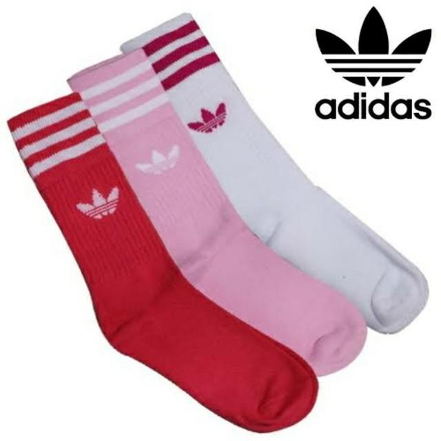 adidas(アディダス)の新品未使用 アディダスオリジナルス レディース ソックス 3足セット セール レディースのレッグウェア(ソックス)の商品写真