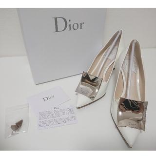 Christian Dior - ディオール パンプス ヒール エナメル 白 ホワイト 靴 ハイヒール