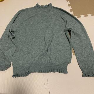 フランシュリッペ(franche lippee)のフランシュリッペブラック fl5  大きいサイズ フリルニット(ニット/セーター)
