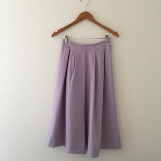 トゥモローランド(TOMORROWLAND)のballsey ボールジー  スカート パープル 32 ウール(ひざ丈スカート)