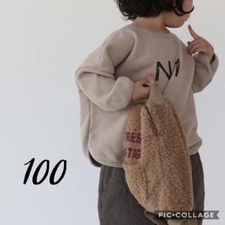 petit main - 即納 韓国子供服 N1 トレーナー 裏起毛 ロゴトレーナー 100 韓国こども服
