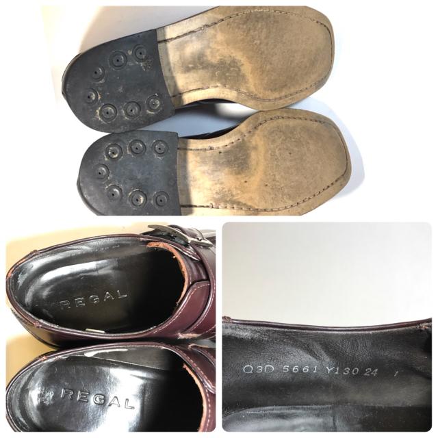 REGAL(リーガル)のREGAL リーガル 24cm シングルモンクストラップ バーガンディ 本革 メンズの靴/シューズ(ドレス/ビジネス)の商品写真