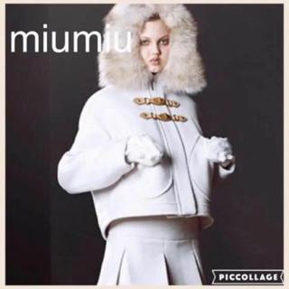 miumiu - 限定値下げ‼️miumiu ミュウミュウ  コート ライトグレー 38