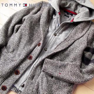 TOMMY HILFIGER - 超美品 M トミーヒルフィガー メンズ ドッキングジャケット グレー