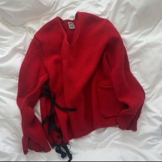 SUNSEA - sunsea  v-neck slit knit