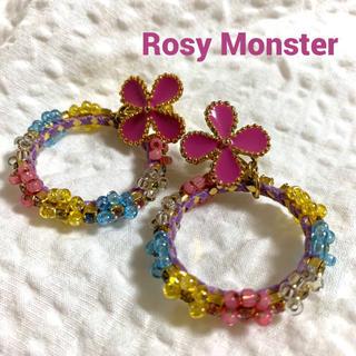 Chesty - Rosy Monster ロージーモンスター フラワー イヤリング
