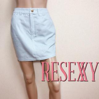 RESEXXY - もて服♪リゼクシー カジュアル ストライプスカート♡デュラス リップサービス