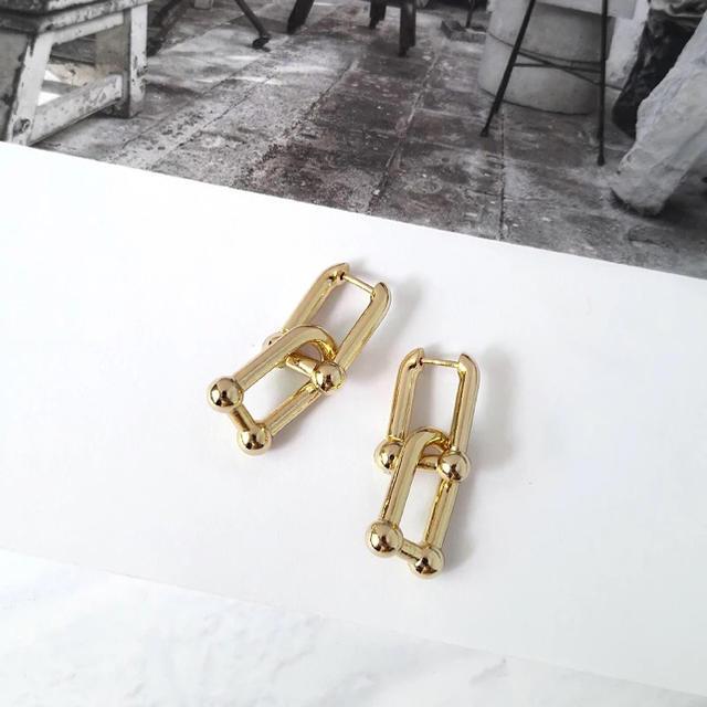 ete(エテ)の2連ゴールドピアス レディースのアクセサリー(ピアス)の商品写真
