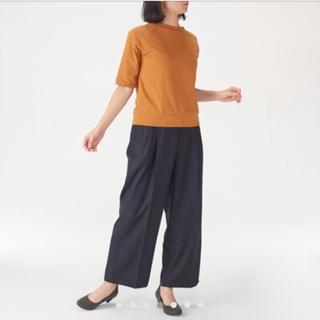 MUJI (無印良品) - 無印 ワイドパンツ 紺 L