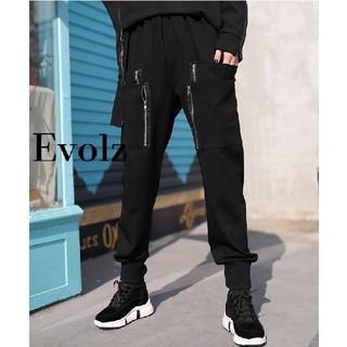 FUNKY FRUIT - ブラック ZIP装飾 ジョガーパンツ