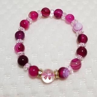 桜アゲート 水晶 ブレスレット