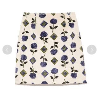 Lily Brown - lily brown レトロ花柄ミニスカート