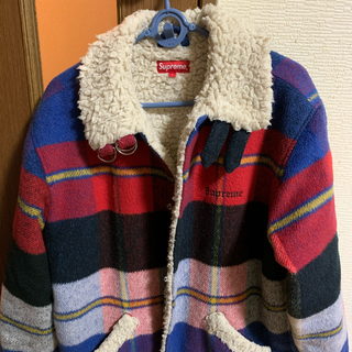 Supreme - Supreme Plaid Shearling Bomber
