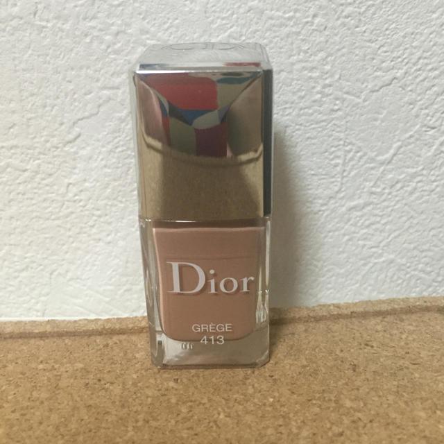 Dior(ディオール)のディオール ネイル 413 グレージュ コスメ/美容のネイル(マニキュア