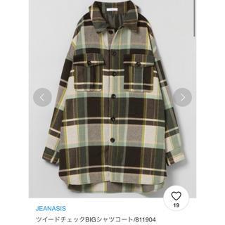 JEANASIS - ツイードチェックBIGシャツコート