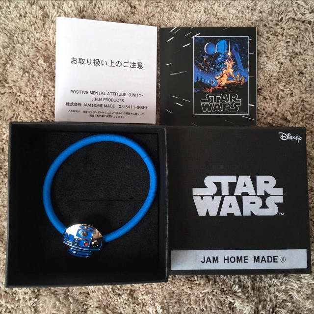 JAM HOME MADE & ready made(ジャムホームメイドアンドレディメイド)の2月終了★ STAR WARS R2-D2 ブレスレット ヘアゴム コンチョ メンズのアクセサリー(ブレスレット)の商品写真