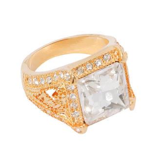 エイミーイストワール(eimy istoire)の定価以下♡eimyistore クリアストーンリング 指輪 エイミーイストワール(リング(指輪))