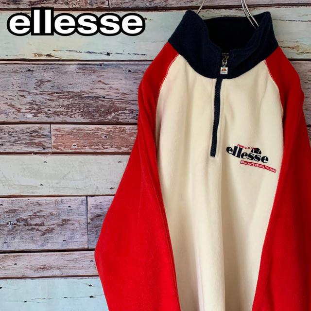ellesse(エレッセ)の【美品】エレッセ 90s ヴィンテージ ハーフジップ フリース L メンズのトップス(その他)の商品写真