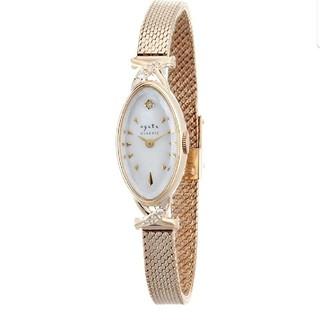 アガット(agete)のミコルン様 専用 K10 アガット オーバルフェイス腕時計(腕時計)