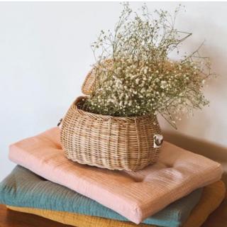 ボンポワン(Bonpoint)の新品✦Olli Ella Mini Chari Basket(straw)(リュックサック)