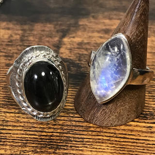 五郎様♡ブラックスター ブルームーンストーン シルバー925  リング 指輪(リング(指輪))